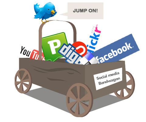 """Jump on the Social Media Bandwagon"" by Matt Hamm, licensed under Creative Commons Attribution Noncommercial 2.0."
