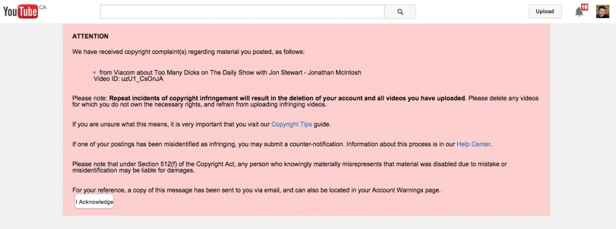 Déjà vu: Viacom removes Jonathan McIntosh's Daily Show remix with